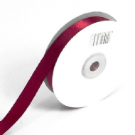 Burgundy Double Faced Satin Ribbon. 3mm x 50meters Per Reel